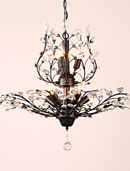 Недорогие -LightMyself™ 8-Light 78 cm Хрусталь / LED Люстры и лампы Металл Окрашенные отделки Современный современный 110-120Вольт / 220-240Вольт