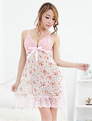 cheap -Women's Sexy Suits Nightwear - Lace Floral Pink XL XXL XXXL