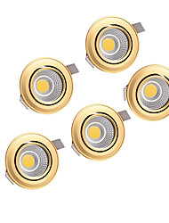 cheap -LED Beads Recessed LED Downlights Warm White Natural White 220-240 V Cabinet Ceiling Home / Office / 5 pcs