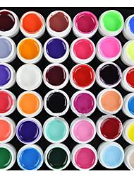 abordables -Vernis Gel UV 8 ml 36 pcs Gel de couleur UV / Gel UV Builder / Classique Faire tremper Longue Durée Quotidien Gel de couleur UV / Gel UV Builder / Classique Séchage rapide
