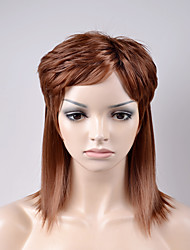 cheap -Synthetic Wig Loose Wave Loose Wave Wig Short Brown Synthetic Hair Women's Brown