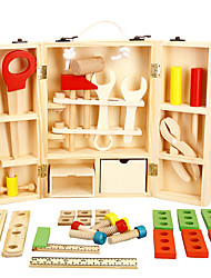 cheap -Toy Tool Tool Box Safety Simulation Wooden Kid's Boys' Girls' Toy Gift