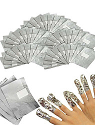 cheap -50Pcs/Lot Aluminium Foil Nail Art Soak Off Acrylic Gel Polish Nail Removal Wraps Remover Makeup Tool