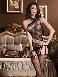 abordables -Femme Grandes Tailles Jupes - Couleur Pleine Maille Noir XL XXL XXXL / Body / Super sexy