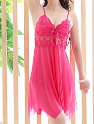 Недорогие -Жен. С разрезами Супер секси Бебидол / маечка Ночное белье Однотонный Розовый Винный L XL XXL