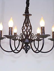 cheap -6-Light 58 cm Candle Style Chandelier Metal Others Traditional / Classic 110-120V / 220-240V