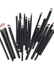 abordables -Professionnel Pinceaux à maquillage ensembles de brosses 20pcs Portable Voyage Economique Professionnel Bois Pinceaux de Maquillage pour
