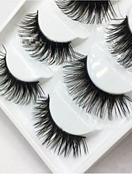 cheap -Eyelash Extensions False Eyelashes 6 pcs Lifted lashes Volumized Curly Fiber Daily Full Strip Lashes - Makeup Daily Makeup Cosmetic Grooming Supplies