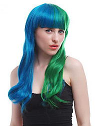 cheap -Synthetic Wig Straight Straight Wig Green Synthetic Hair Women's Green