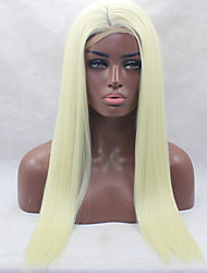 cheap -Synthetic Lace Front Wig Straight Straight Lace Front Wig Blonde Light Blonde Synthetic Hair Women's Natural Hairline Blonde