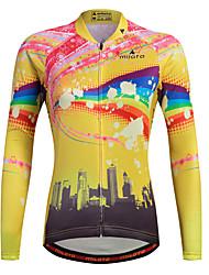cheap -Miloto Women's Long Sleeve Cycling Jersey Stripes Plus Size Bike Shirt Sweatshirt Jersey Mountain Bike MTB Road Bike Cycling Breathable Quick Dry Reflective Strips Sports 100% Polyester Clothing