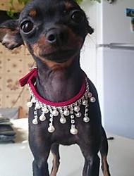 cheap -Cat Dog Collar Strobe / Flashing Love PU Leather Red Pink