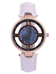 cheap -Women's Fashion Watch Dress Watch Quartz Quilted PU Leather Band Material Black / White Hollow Engraving / Analog Casual - Rose Gold Rose Gold / White Gold / Red