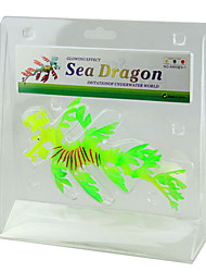 cheap -Aquarium Decoration Sea Horse Noctilucent Silicone