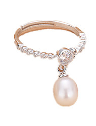 cheap -Women's Ring AAA Cubic Zirconia Silver Pearl Imitation Pearl Zircon Daily Casual Jewelry