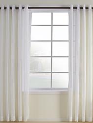 cheap -Custom Made Sheer Sheer Curtains Shades Two Panels  / Jacquard / Bedroom