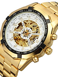 cheap -FORSINING Men's Skeleton Watch Wrist Watch Analog Automatic self-winding Luxury Hollow Engraving / Stainless Steel