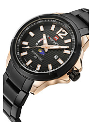 cheap -NAVIFORCE Men's Wrist Watch Quartz Stainless Steel Black / Silver 30 m Water Resistant / Waterproof Calendar / date / day Moon Phase Analog Classic Fashion - Rose Gold Black / Silver White / Silver