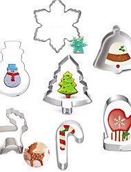 cheap -7pcs Mold Christmas 3D Cartoon Stainless Steel For Cake