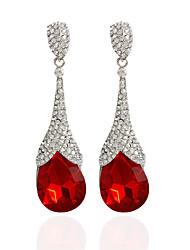 cheap -Women's Drop Earrings Hoop Earrings Regular Earrings Jewelry Red / Green / Blue For Wedding Party Casual 1pc