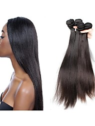 cheap -Unprocessed Human Hair Remy Weaves Straight / Classic Brazilian Hair 500 g More Than One Year Daily