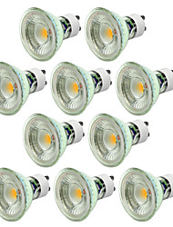 cheap -10pcs 5 W LED Spotlight 550-650 lm GU10 1 LED Beads COB Dimmable Decorative Warm White Cold White 220-240 V / 10 pcs / CE Certified