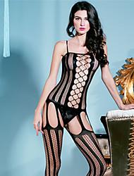 cheap -Women's Mesh Plus Size Garters & Suspenders / Lace Lingerie / Ultra Sexy Nightwear Black XL XXL XXXL
