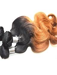 Недорогие -Бразильские волосы Естественные кудри Натуральные волосы 400 g Омбре Ткет человеческих волос Расширения человеческих волос / Более года