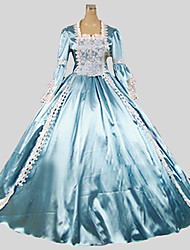 cheap -Princess Marie Antoinette Gothic Lolita Rococo Baroque Dress Women's Satin Japanese Cosplay Costumes Solid Colored Poet Sleeve Floor Length / Victorian / Ball Gown