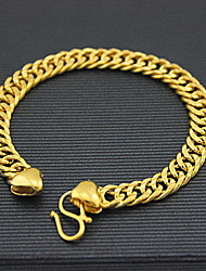 cheap -Men's Chain Bracelet Ladies Fashion Alloy Bracelet Jewelry Golden For Christmas Gifts Daily Casual