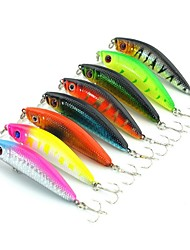 cheap -8 pcs Fishing Lures Hard Bait Minnow Floating Bass Trout Pike Freshwater Fishing Other Bass Fishing Hard Plastic Stainless Steel / Iron / Lure Fishing / General Fishing