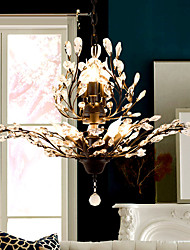 cheap -8-Light 78 cm Crystal / LED Chandelier Metal Painted Finishes Modern Contemporary 110-120V / 220-240V