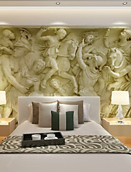 cheap -Large 3D Stereo Wallpaper Mural Gray Large Relief Background Wall Room Living Bedroom TV Background Wall