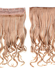 cheap -Clip In Hair 60cm 24inch 5 Clips  #27/613 Mixed Color 5Clips Synthetic Curly Hair Synthetic Hair Weaves
