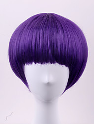 cheap -Synthetic Wig Straight Straight Bob Wig Short Purple Synthetic Hair Women's Purple