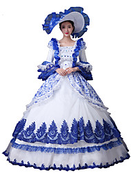cheap -Princess Cosplay Costume Masquerade Women's Rococo Victorian Party Prom Christmas Halloween Carnival Festival / Holiday Lace Organza Women's Carnival Costumes Ball Gown Solid Colored / Dress / Dress