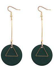 cheap -Women's Drop Earrings Hoop Earrings Cross European Simple Style Fashion Wooden Wood Earrings Jewelry Black / Red / Green For Daily