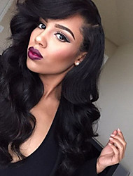 cheap -22 inch body wave human hair lace front wigs dark black 1 black 1 b dark brown 2 medium brown 4 body wave glue lace front