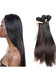 cheap -new arrival top 12a grade original brazilian silk straight virgin hair weaves 3bundles 300g lot natural black brown color soft and smooth texture