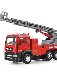 cheap -Toy Car Die-Cast Vehicle Pull Back Vehicle Fire Engine Vehicle Car Fire Engine Novelty Classic & Timeless Boys' Toy Gift / Metal