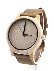 cheap -Men's Women's Fashion Watch Wood Watch Quartz Casual / Analog Wood
