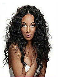 cheap -Remy Human Hair Glueless Full Lace Full Lace Wig style Brazilian Hair Water Wave Wig 130% Density with Baby Hair Natural Hairline African American Wig 100% Hand Tied Women's Short Medium Length Long