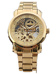 cheap -Men's Sport Watch Fashion Watch Dress Watch Automatic self-winding Multi-Colored 30 m Hollow Engraving Designers Large Dial Analog Charm Classic Casual - Gold