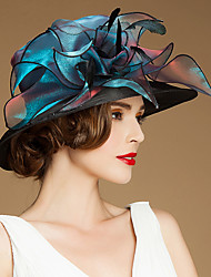 cheap -Flax / Silk / Organza Kentucky Derby Hat / Hats / Headwear with Floral 1pc Special Occasion / Casual / Outdoor Headpiece