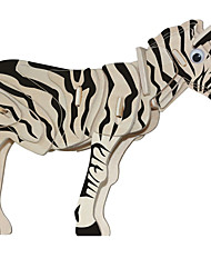 cheap -Wooden Puzzle Horse Zebra Professional Level Wood 1 pcs Boys' Girls' Toy Gift