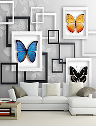 cheap -Custom Large 3D Wallpaper Mural Photo Frame Butterfly Background Living Room Bedroom TV Wallcovering