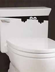 cheap -1pc 28Cm*4Cm Funny Peek Monster Toilet Seat Bathroom Wall Car Decal Sticker Vinyl Art Mural