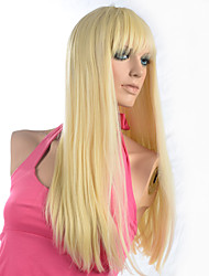 cheap -Synthetic Wig Straight Yaki Straight Yaki Wig Blonde Light Blonde Synthetic Hair Women's Blonde