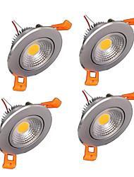 cheap -ZDM 4PCS Dimmable 3x2W COB LED Lamp 400-500 lm LED Ceiling Lights Recessed Retrofit leds Warm White Cold White AC 110V / AC 220V