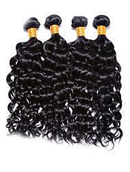 Недорогие -4 Связки Бразильские волосы Волнистый 450 g Человека ткет Волосы Ткет человеческих волос Расширения человеческих волос